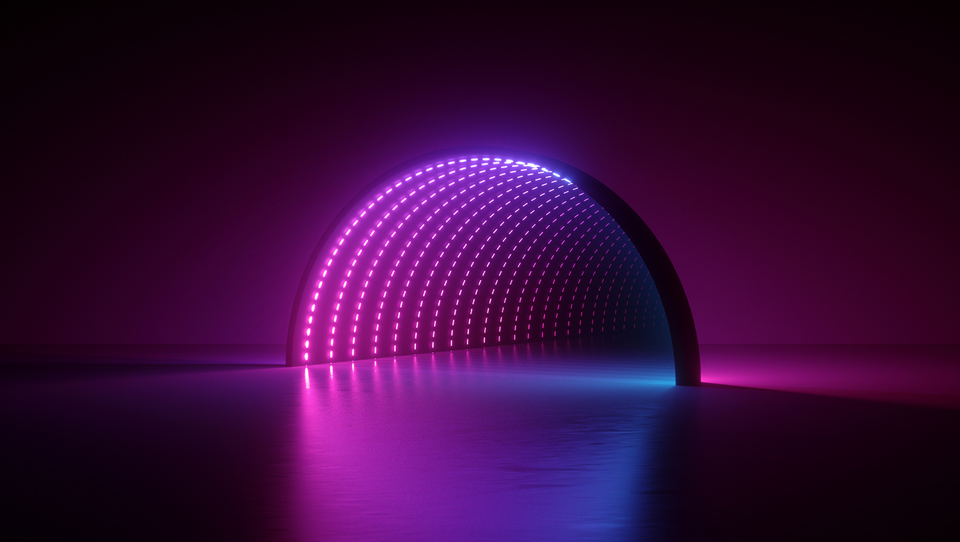 attractive tunnel of light